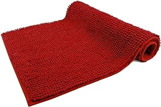 WohnDirect Alfombrilla de baño Rojo • Puede combinarse en un Conjunto • Antideslizante y Lavable • Cómoda Y Súper Absorben...