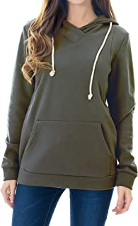 Women's Fleece Maternity Nursing Sweatshirt Hoodie Kangaroo Pocket