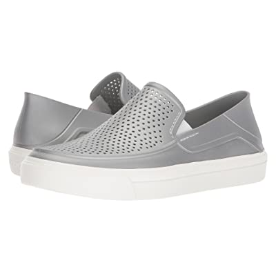 Crocs CitiLane Roka Metallic Slip-On (Silver Metallic) Women