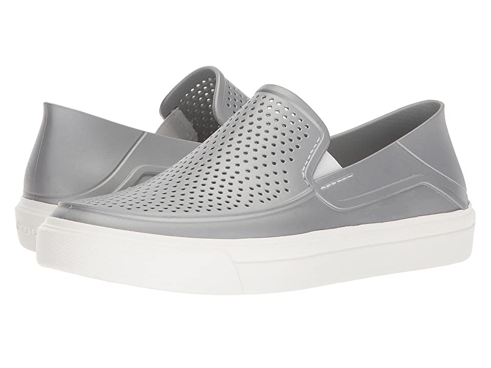 Crocs CitiLane Roka Metallic Slip-On (Silver Metallic) Women