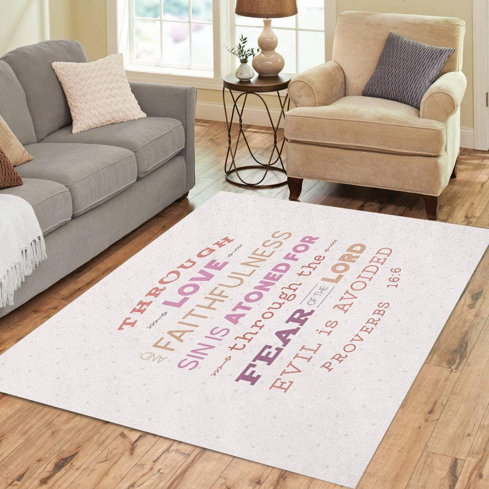Lowest price challenge Brand new Pinbeam Area Rug from Old Testament Home Through Proverbs Love D