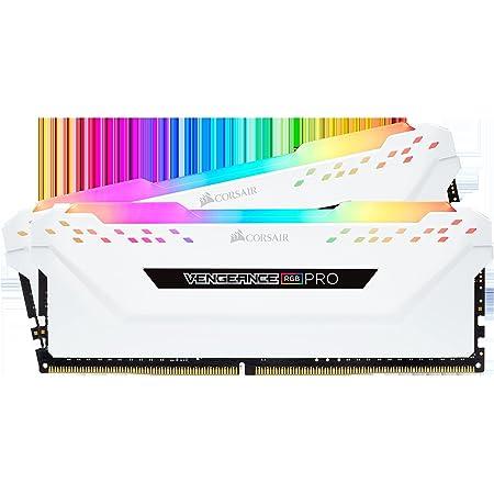 Corsair Vengeance RGB Pro - Kit de Memoria Entusiasta 16 GB (2 x 8 GB), DDR4, 3600 MHz, C18, XMP 2.0, Iluminación LED RGB, Blanco