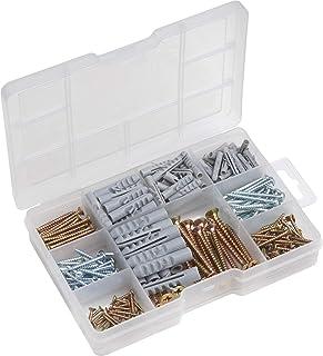 comprar comparacion Meister 947320 - Caja de surtido de tornillos y tacos, 233 unidades