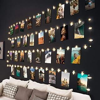 hepside Guirlande Lumineuse Photo, 100 LED 10M Guirlande Photo Avec 60 Clips Batterie Alimenté Porte Photos pour Decoratio...