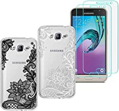2 X Samsung Galaxy J7 Nxt /J7 Core Case with 2 Pack Glass Screen Protector Phone Case for Men Women Girls Clear Soft TPU with Protective Bumper Cover Case for Samsung Galaxy J7 Neo J701M