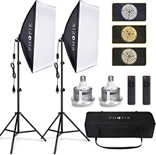 WuLian 110V 50W 5100K Photography Photo Studio Light Lamp Camera Softbox with Tripod Stand Bulb for Light Tent for Perfect Shot