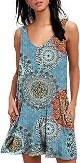 blue floral tunic dress