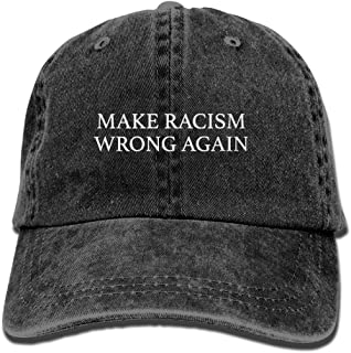 Unisex Make Racism Wrong Again Vintage Jeans Adjustable Baseball Cap Cotton Denim Dad Hat