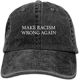 Unisex Make Racism Wrong Again Vintage Jeans Adjustable Baseball Cap Cotton Denim Dad Hat