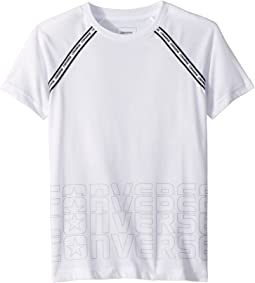 Raglan Sport Stripe Tee (Big Kids)