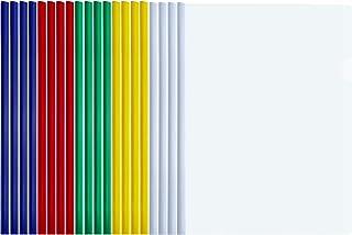 TecUnite 20 Pieces A4 Sliding Bar Binder Transparent Report Covers Folder for Documents Classification Multicolored Sliding Bar