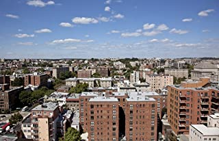 Photograph- View from the top of The Cairo apartment building, 1615 Q St, NW, Washington, D.C. 1 Fine Art Photo Reproduction 66in x 44in