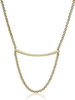 قلادة مجوهرات رقيقة من لاكي براند جولري، ذهبي