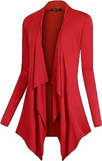 69fead6ca4 Urban CoCo Women s Drape Front Open Cardigan Long Sleeve Irregular Hem
