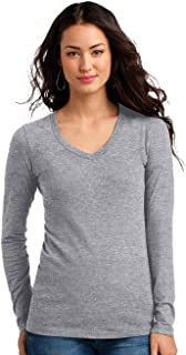No Boundaries Juniors' Brushed Long Sleeve V-Neck T-Shirt