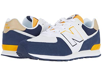 New Balance Kids 574 Split Sail (Big Kid) (Natural Indigo/Chromatic Yellow) Boy