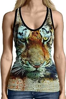 Face Tiger 3D - Women Tank Top Polyester L White