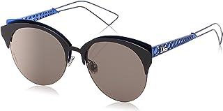 Dior Christian Diorama Club G5V2K Matte Black/Blue Diorama Club Round Sunglas