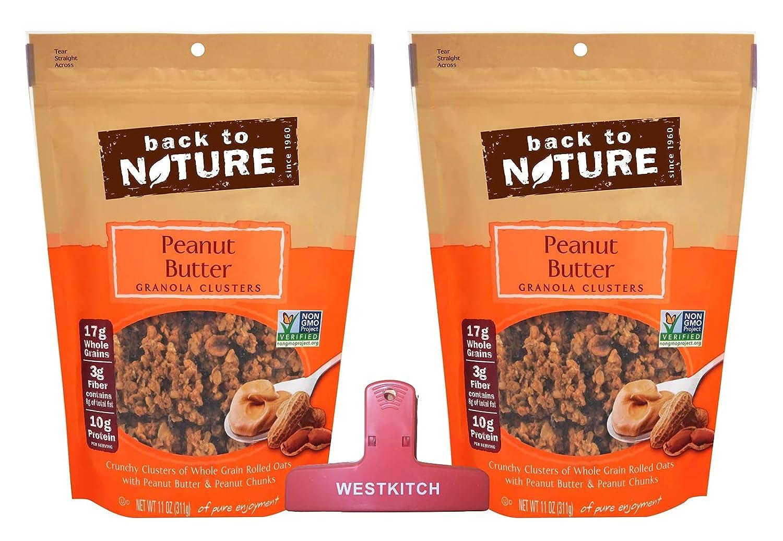 Back to Nature Peanut Butter Granola Popularity B Max 42% OFF 11 Non-GMO Clusters Ounce
