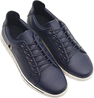 ROSSO BRUNELLO Mens Navy Sneakers