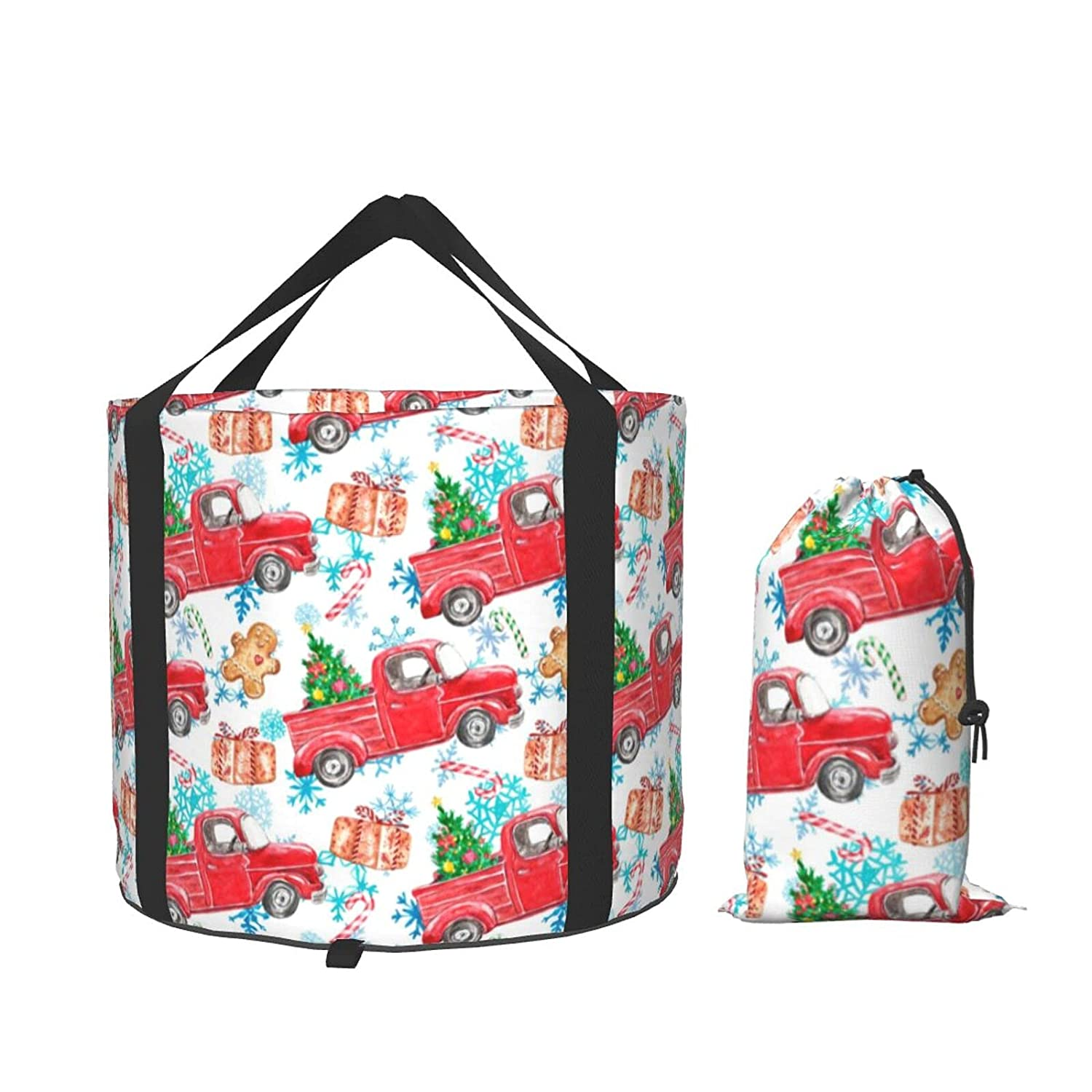 OcuteO Collapsible Factory outlet New mail order Bucket Five Christmas GallonMerry Watercolor