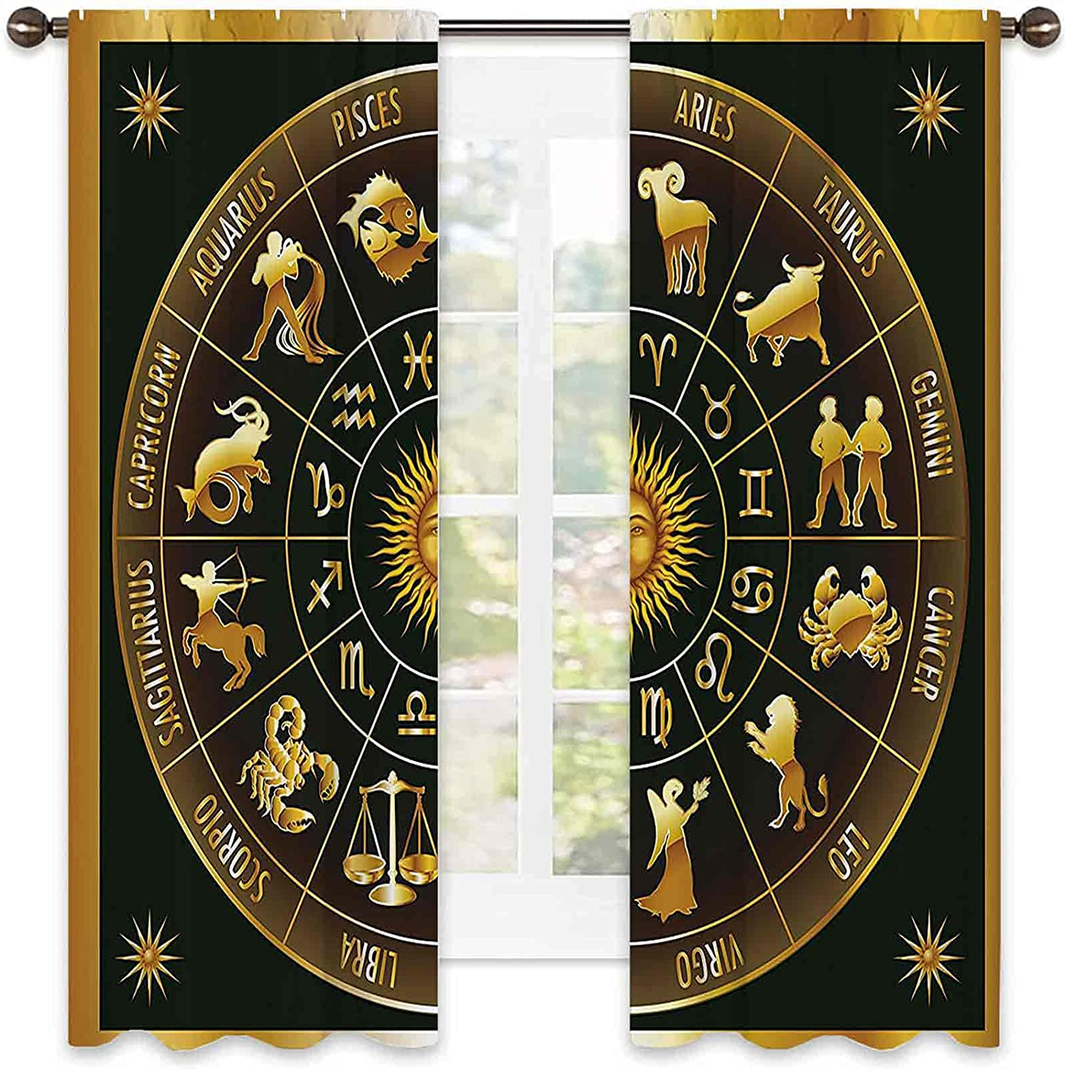 Astrology Blackout Curtain Wheel Zodiac Rare Signs Inventory cleanup selling sale Astrological C in