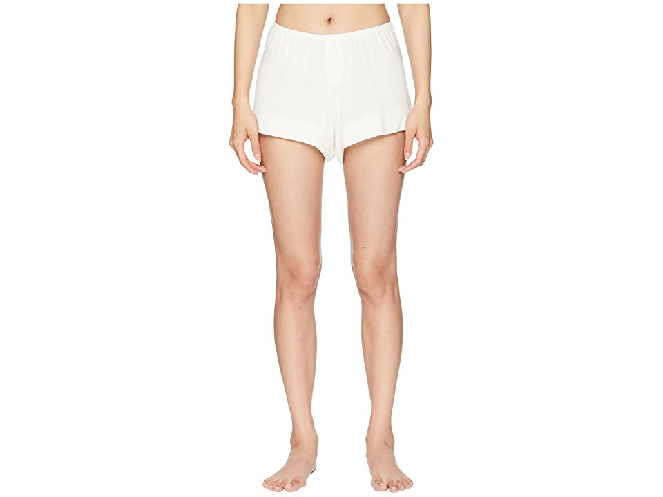 Eberjey Agnes The Boyfriend Shorts (Ivory) Women