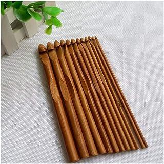 Tonglura Excellente 12pcs Bambou Crochet Crochet Set Bricolage Aiguilles à Tricoter Accueil Poignée Tricoter Weave Artisan...