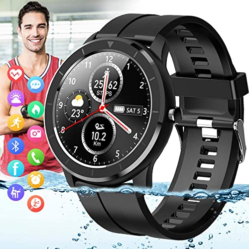Amokeoo Smart Watch,Fitness Watch Tracker with Heart Rate Blood Pressure Monitor IP67 Waterproof Bluetooth Smartwatch...