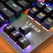 Teclado para Juegos - LESHP,Teclado mecánico del juego 7 ...