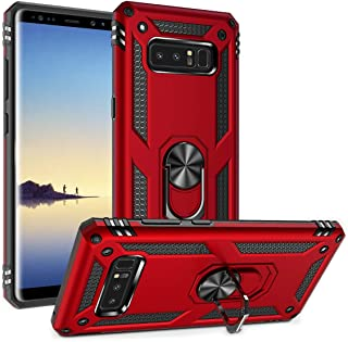 Sponsored Ad - Galaxy Note 8 Case Military Grade Drop Impact Tested Armor 360 Metal Rotating Ring Kickstand Holder Built-i...