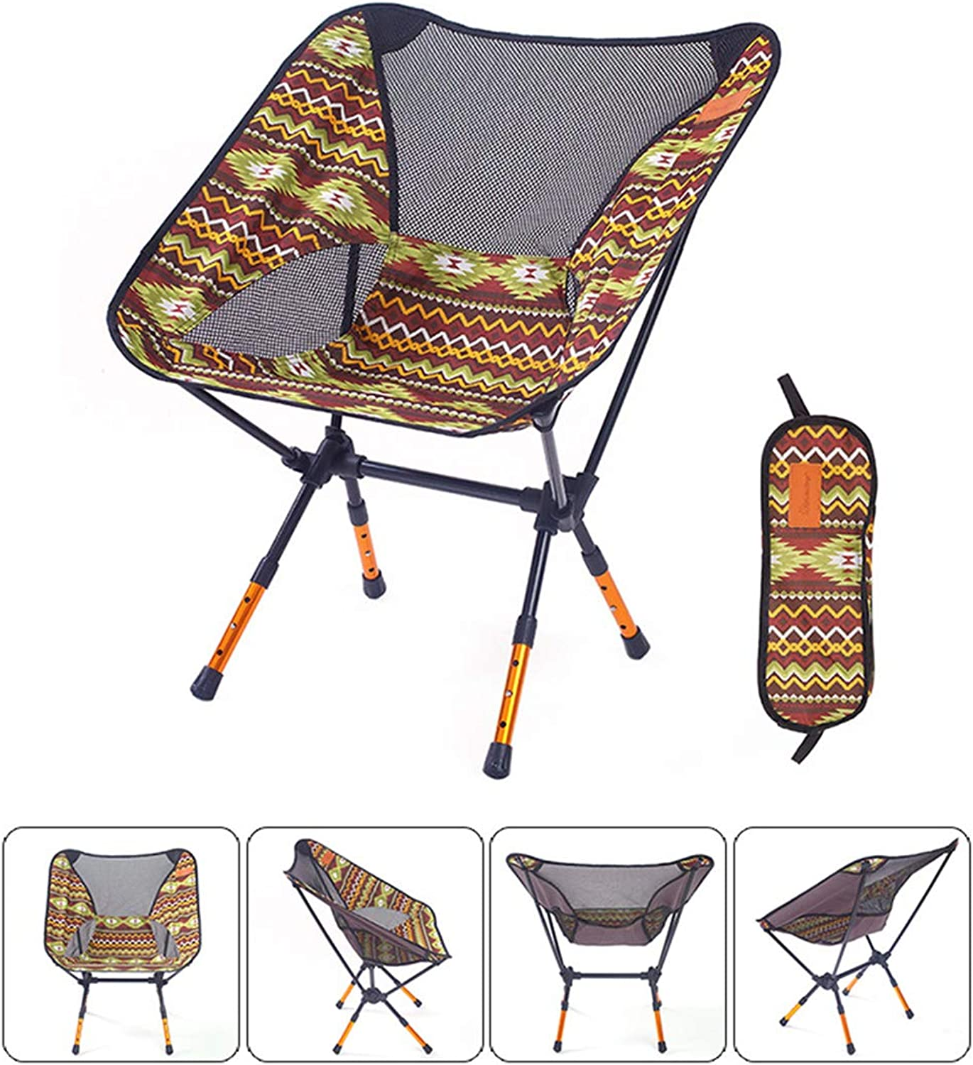 Lightweight Camping Chair Backpacking Chair for Camping Hiking Fishing Events Hunting Music Festival Small Folding Low Collapsible Chair