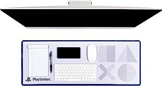 Paladone Playstation 5:e generationens ikoner skrivbordsmatta   kontorsinredning för spel   Officiellt licensierad vara