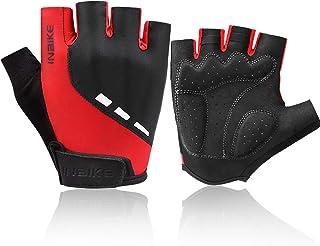 INBIKE Cycling Gloves 3M Gel Pad Breathable Refletive Half Finger Biking Gloves Lightweight for Riding MTB