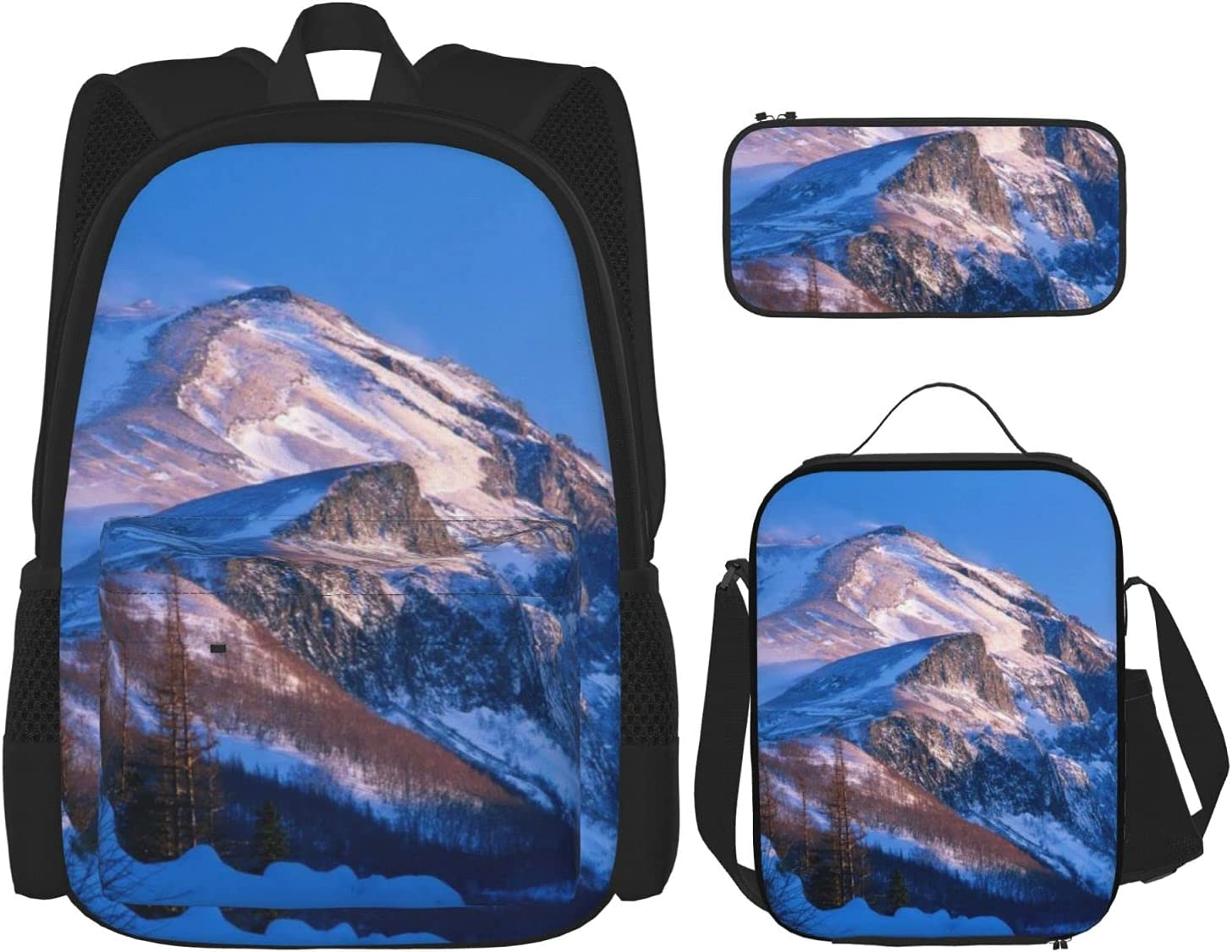 Snow Mountain Early In The Backpack Seattle Mall Student School Teen Max 59% OFF Morning