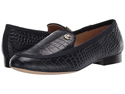 LAUREN Ralph Lauren Clair (Lauren Navy/Lauren Navy Soft Mini Croc/Grosgrain) Women