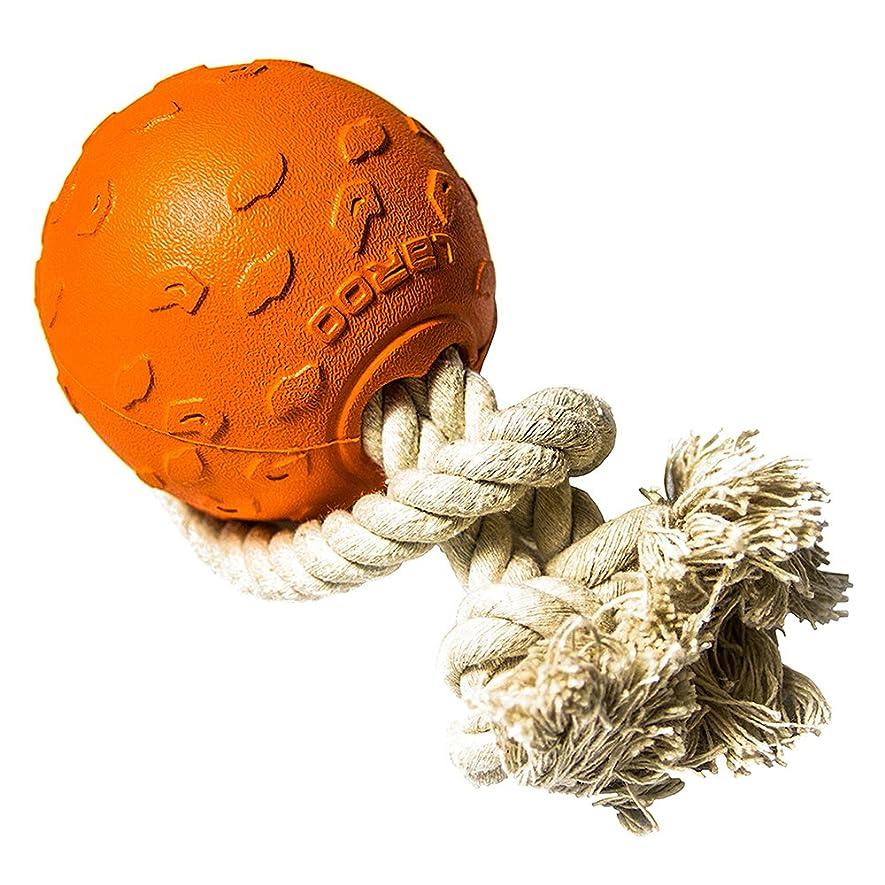 救急車発行するはちみつLaRoo 犬用おもちゃ ペット投げるおもちゃ【100% コットン良質ロープ?安全無毒/綱引き/ロープ玩具/噛むおもちゃ/ボール付き/多機能おもちゃ/中型犬~大型犬 】(オレンジ色)