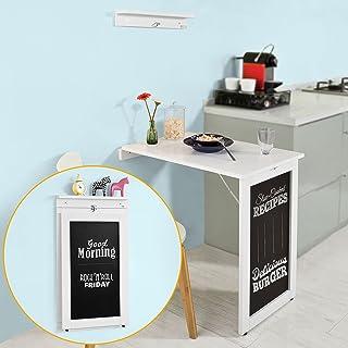 comprar comparacion SoBuy®- Mesa plegable de pared con pizarra de notas FWT20-W. De color blanco