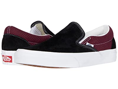 Vans Classic Slip-Ontm ((P&C) Black/Port Royale) Skate Shoes