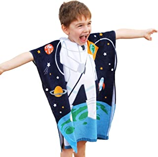 VNICGFOMGT Poncho Towels for Kids Pure Cotton Surf Poncho Changing Towel Bath Towel for Toddler Boys Girls Swim Soft Beach...