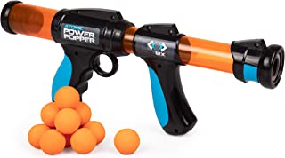 Atomic Power Popper 12X - Rapid Fire Foam Ball Blaster Gun - Shoots Up to 12 Foam Balls - 4+