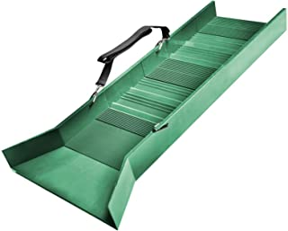 """30"""" Light Weight Green Sluice Box with Shoulder Strap - ABS Plastic 16"""" wide Flair - 10"""" Riffles"""
