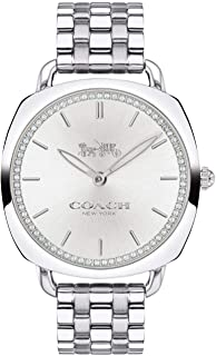 Coach Women's Tatum Slim Steel Bracelet & Case Quartz Silver-Tone Dial Analog Watch 14503010