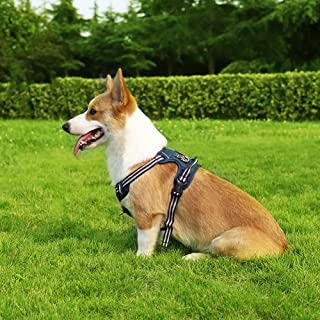 Cinf Dog Harness Vest No-Pull Walking Light Pet Harness Not Tight Adjustable Outdoor Breathable Pet Vest Reflective Oxford...