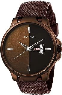 "Matrix""Mesh Collection"" Dual Tone Day & Date Wrist Watch for Men & Boys (DD-70)"
