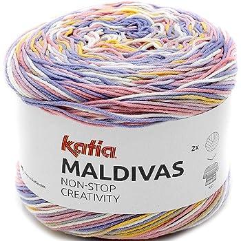 Lanas Katia Maldivas Ovillo de Color Lila Cod. 87: Amazon.es: Hogar