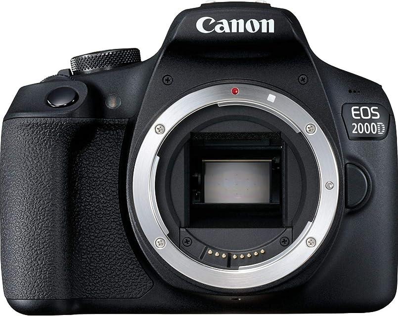 Canon EOS 2000D BK BODY EU26 Cuerpo de la cámara SLR 241 MP CMOS 6000 x 4000 Pixeles Negro - Cámara digital (241 MP 6000 x 4000 Pixeles CMOS Full HD Negro)