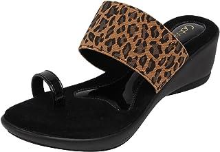 Catwalk Black Leather Slip-on for Women's