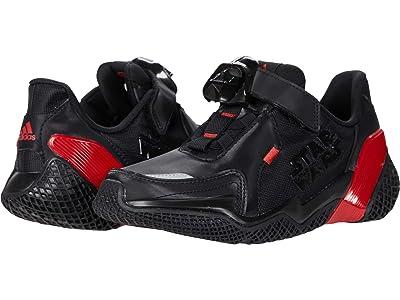adidas Kids 4UTURE RNR Star Wars(r) (Little Kid/Big Kid) (Core Black/Scarlet/Core Black) Boys Shoes