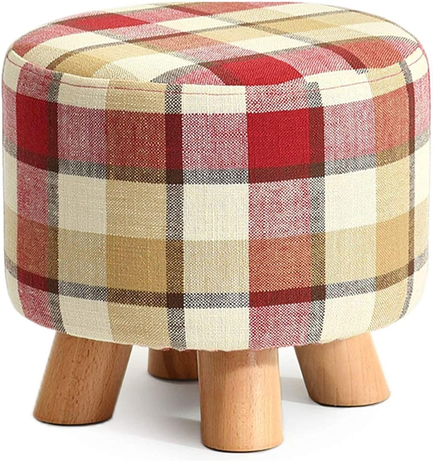 ZHAOYONGLI Stools Footstool Solid Wood shoes Bench Fashion shoes Stool Creative Square Stool Fabric Stool Stool Sofa Stool Coffee Table Bench Home Stool Creative Solid Durable Long Lasting